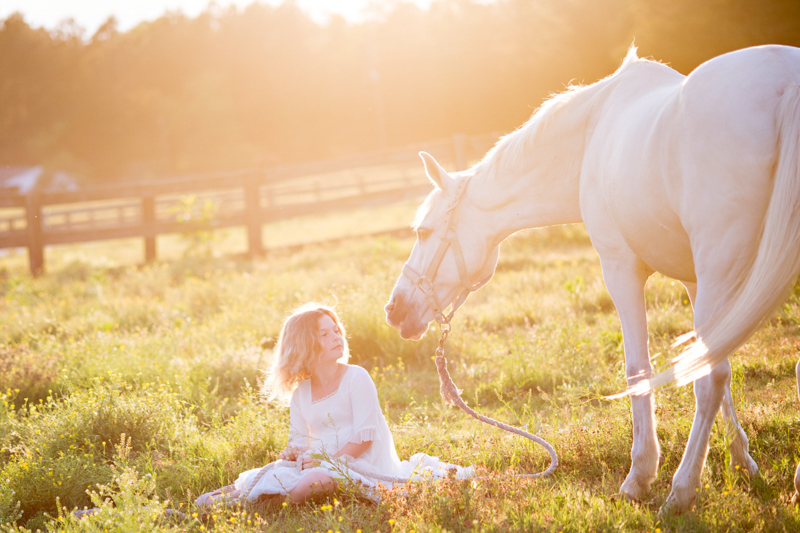 horse and child photos raleigh photographer