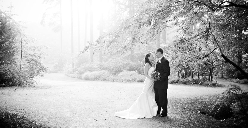wedding photography in Duke Gardens