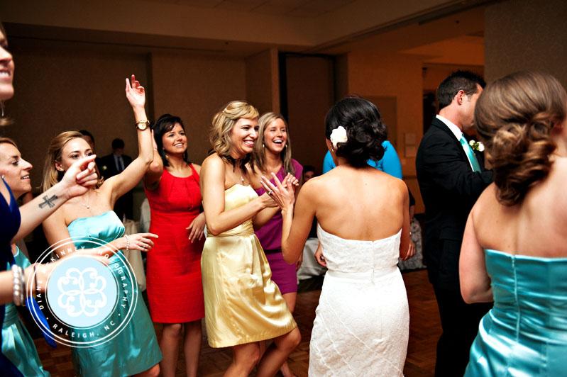 Fun dancing reception photos