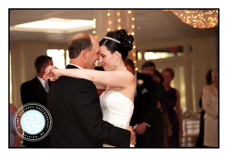 Bride and Groom First Dance Hug