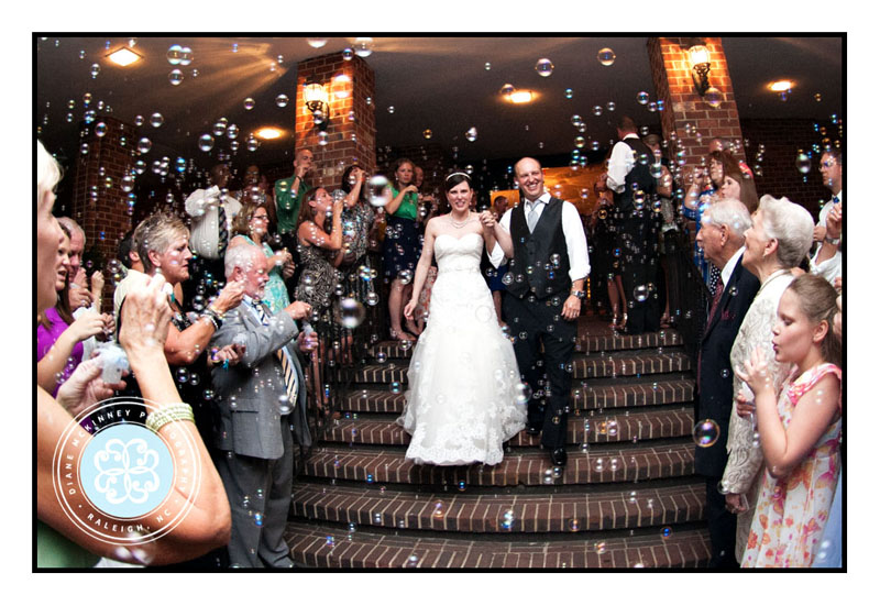 Wedding Day Bubble Exit