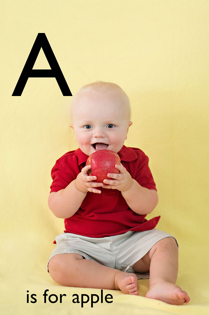 Baby Brother's ABC Book Begins | Raleigh Photographer