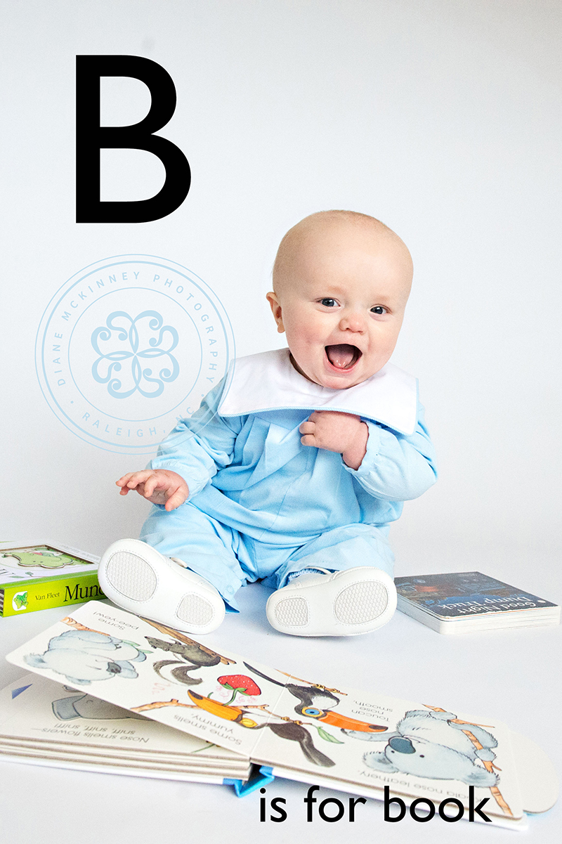Baby B's ABC Book Letters B thru F | Raleigh baby photographers