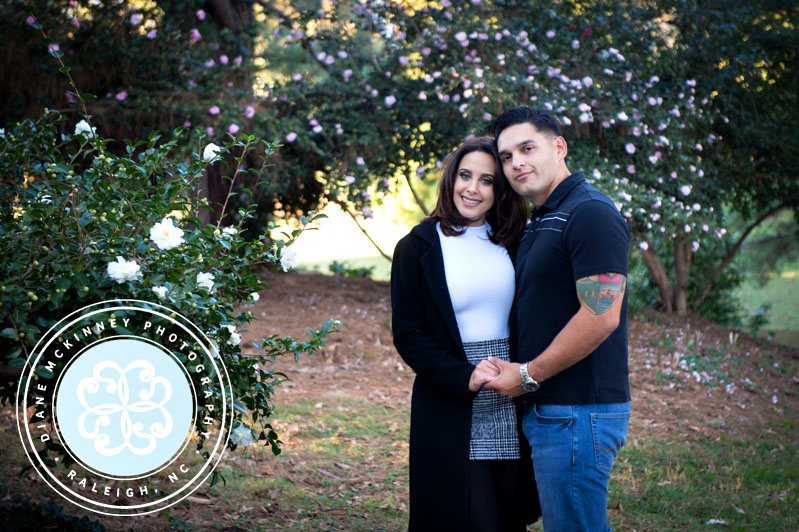 Engagement photos in the fall