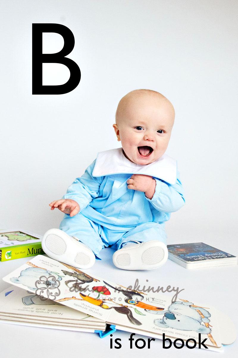 ABC Book Baby Photos | Raleigh Photography