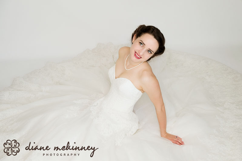 Katheryn's Bridal Portrait in Studio | Wedding Photography