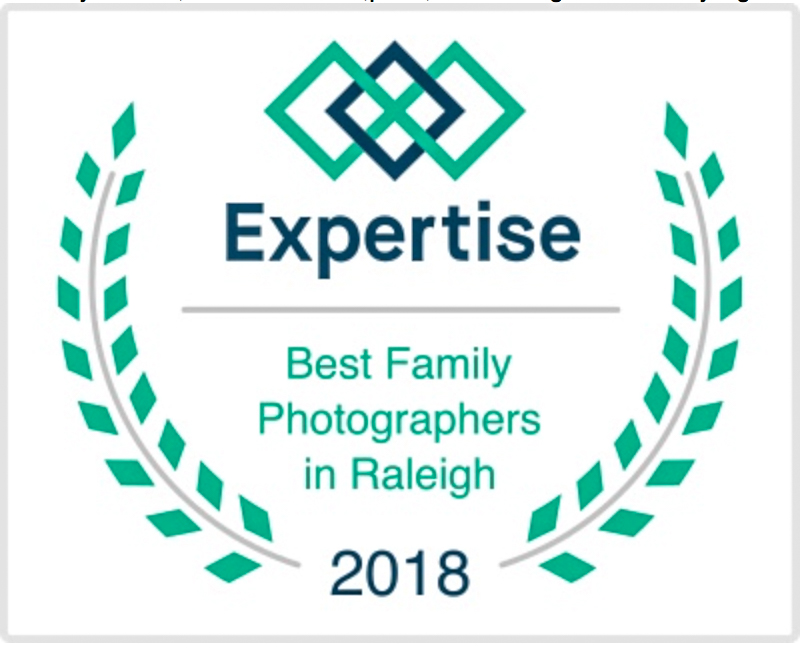 Best Family Photographer 2 Years in a Row! Award