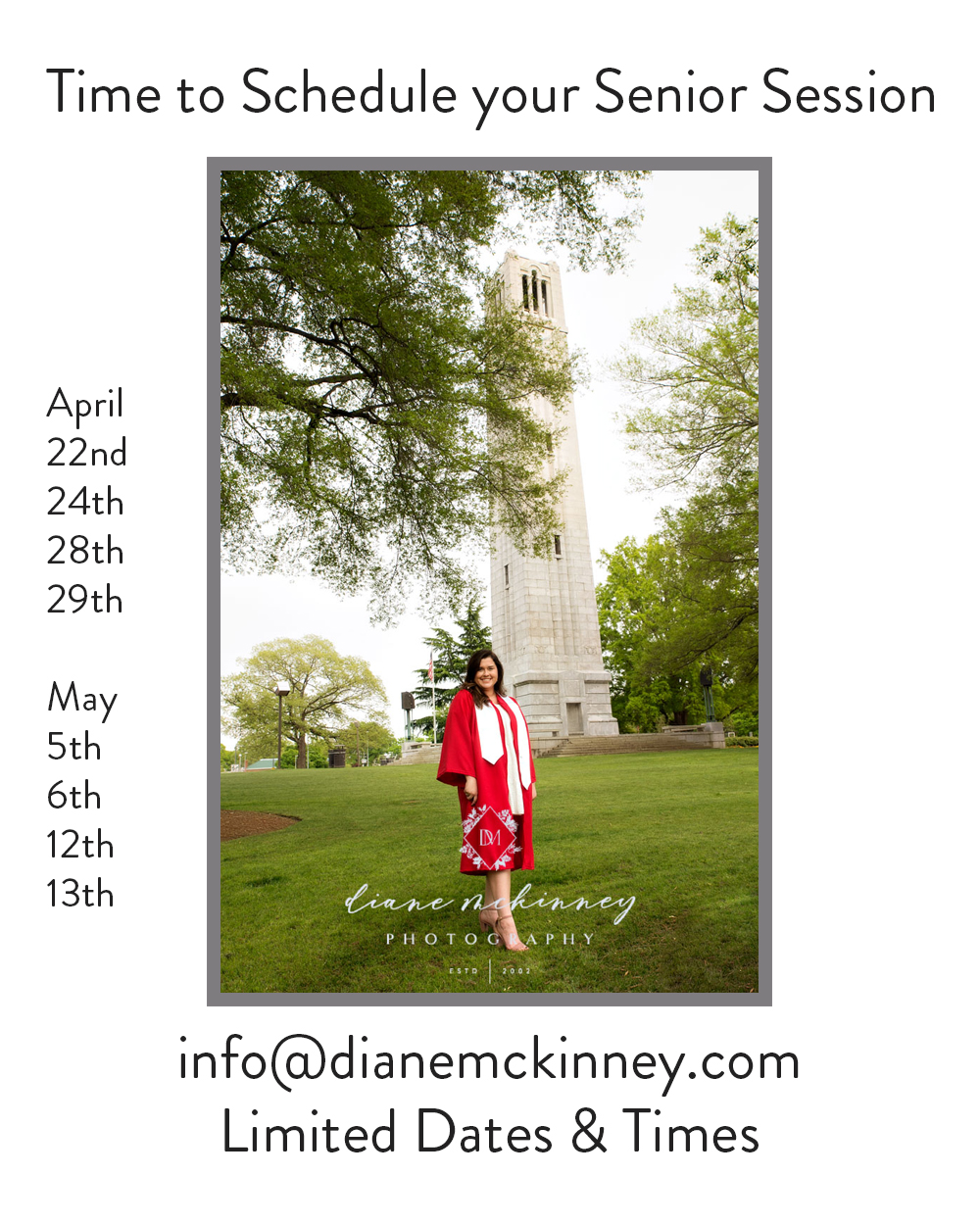 Senior Photography Raleigh NC